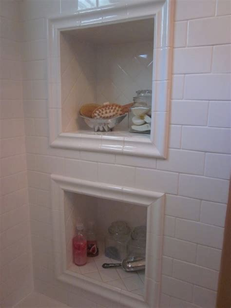 bathroom shower niche ideas framed shower niche boca grande rehab bathroom pinterest