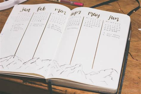 bullet journal setup my 2018 bullet journal setup hannah emily lane