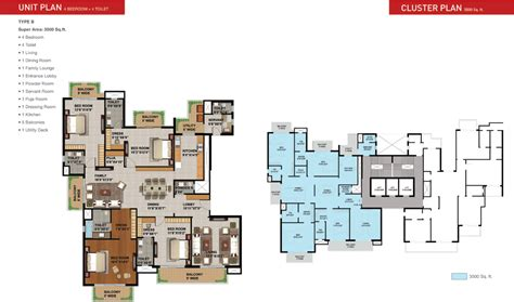 home floor plans 3500 square sunworld arista sector 168 noida expressway noida
