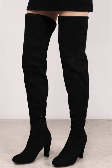 black thigh high suede boots trendy black boots black boots suede boots 90 00