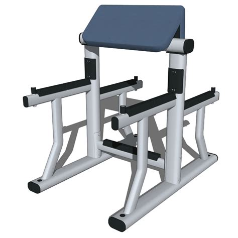 bench bicep curls training stations set 01 3d model formfonts 3d models