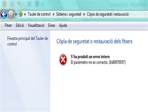 errore interno solucionado foro hp copia seguridad win7 error interno