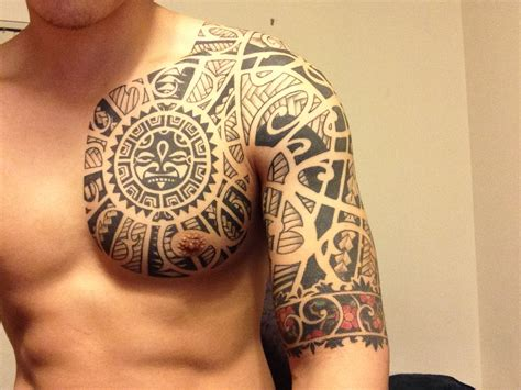 tattoo for black men black ink maori chest for