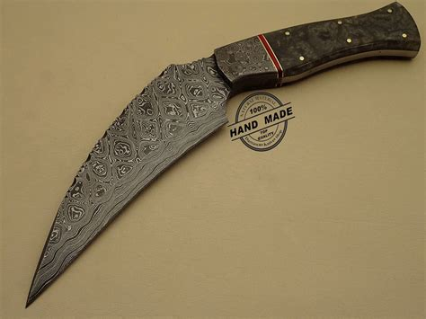 amazing knives amazing damascus kukuri knife custom handmade damascus steel