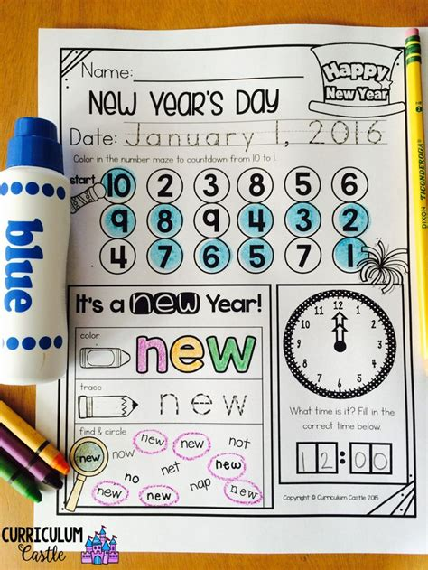 new year lesson plans for kindergarten new year s activities and printables for kindergarten