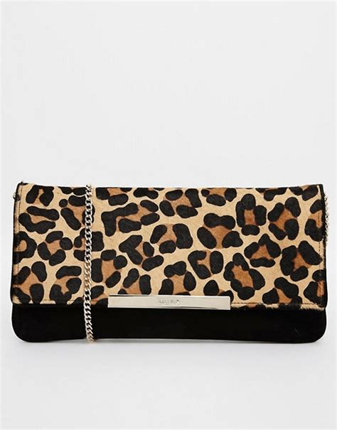 Up Of Designer Animal Print Clutch by Dune Dune Faux Pony Leopard Print Clutch Bag
