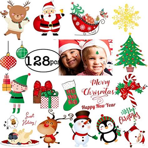 tattoo care on holiday 128pcs christmas tattoo for kids happy holiday merry