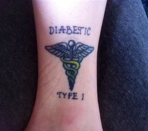 type 1 diabetic tattoo the gallery for gt type 1 diabetes designs