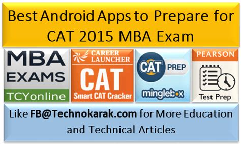 Top Mba Exams by Best Android Apps To Prepare For Cat 2015 Mba