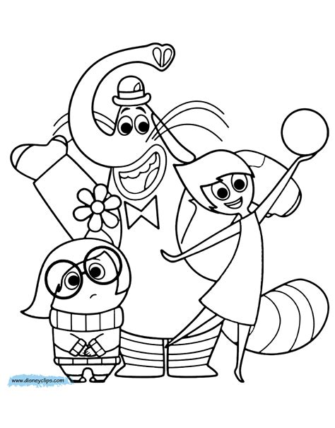 inside out coloring in pages disney pixar inside out coloring pages disney coloring book