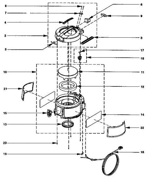 rainbow vacuum parts diagram rexair rainbow e2 1 speed repair parts diagrams