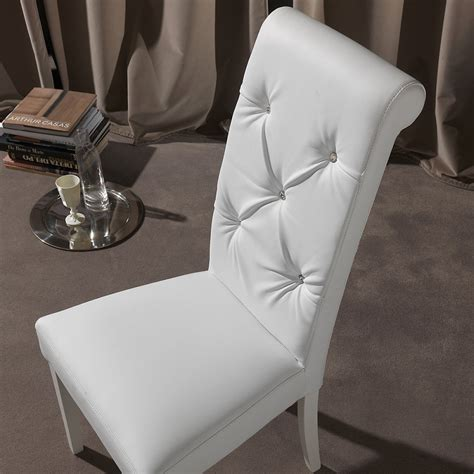 sedie in ecopelle sedia design da salotto in ecopelle bianco schienale alto