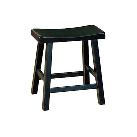 18 High Stool by Saddleback 18 Quot Bar Stool In Black Set Of 2 5302bk 18