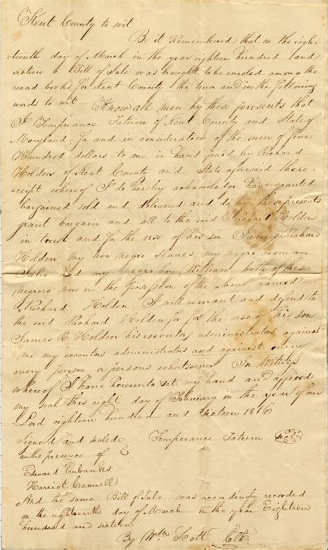 Kent Birth Records State Of Delaware Delaware Archives Slavery Papers