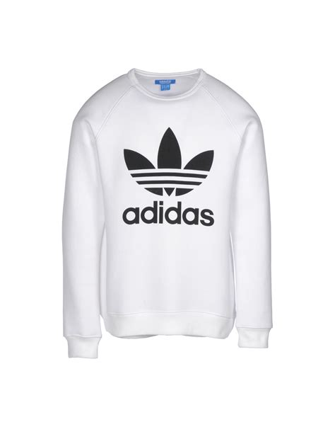 Sweater White Original adidas hoodies trefoil adidas originals jumpers and