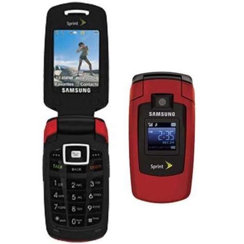 samsung sph  sprint flip camera cell phone red