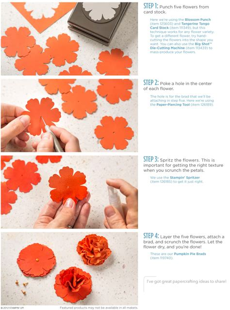 How To Make Easy Paper Flowers For Cards - stin up stin up scrunched flower ad post by
