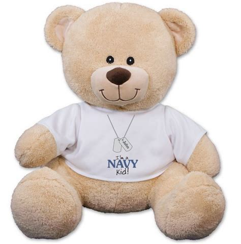 military kid t shirt teddy bear personalized 11