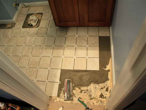 How To Tile A Bathroom Floor Diy Ideas Bathroom Flooring