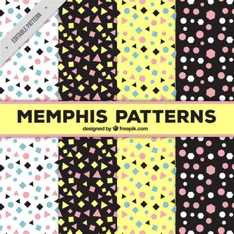 memphis pattern ai four memphis patterns vector free download