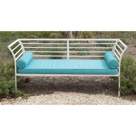 white iron bench contemporary white and teal iron bench with cushion 50368