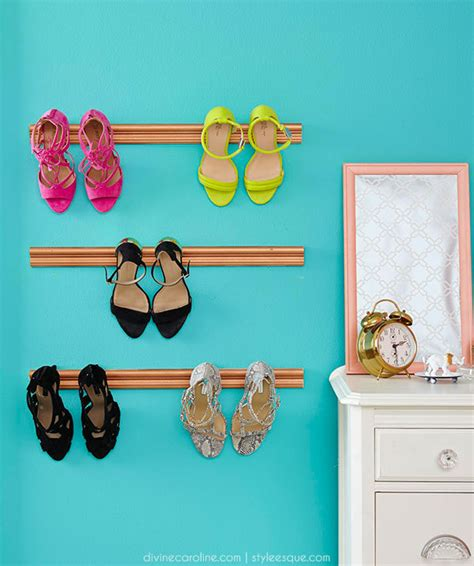 diy shoe holder diy shoe holder display your favorite footwear more
