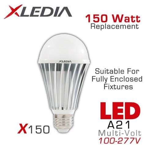 150 Watt Equivalent Led Light Bulb Xledia X150n Led Bulb 150 Watt Equal Fully Enclosed
