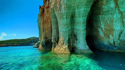 beautiful wallpapers 1366x768 grotto beautiful sea desktop pc and mac wallpaper