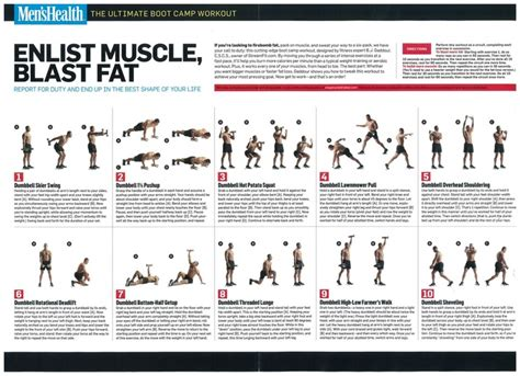 workout plan for men at home boot c workout boot c and men health on pinterest