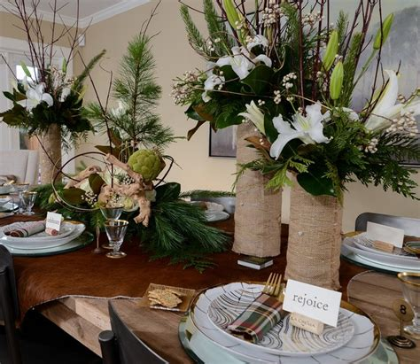 dining room floral centerpieces houzz rustic luxe holiday traditional dining room
