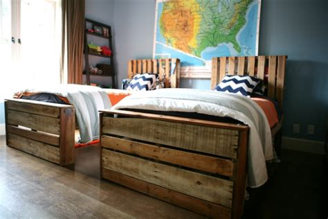 twin pallet bed boys shared room my life at playtime