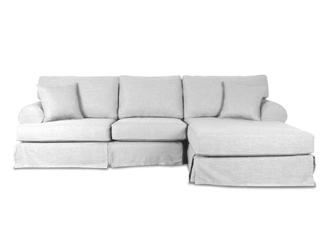 linen sectional couch south cone home new york linen right sectional sofa home