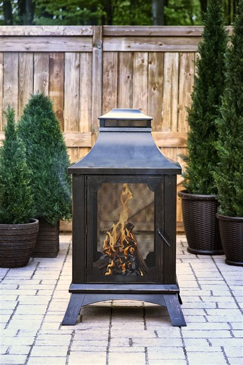 patio fireplaces wood burning pleasant hearth wood burning outdoor fireplace ofw226h