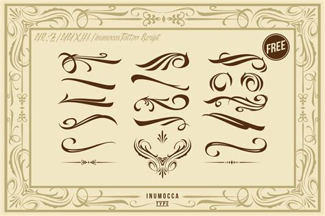 tattoo fonts vector inutattoo script poster vector script fonts on