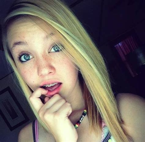 blonde teen tongue blonde teen with braces discovered by girls with braces