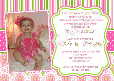 1st birthday invite templates birthday invitation wording ideas for the house
