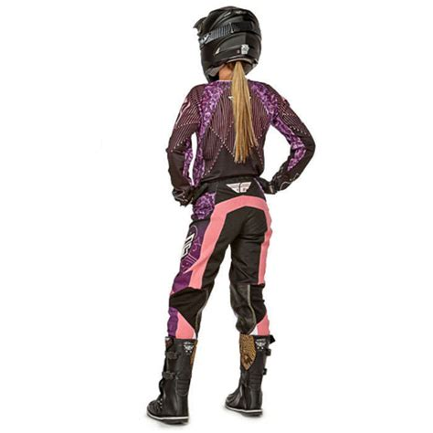 purple motocross gear fly racing mx 2016 kinetic black purple womens