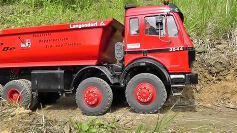 rc mercedes benz mb   big rc truck  construction mining  model  volvo machines