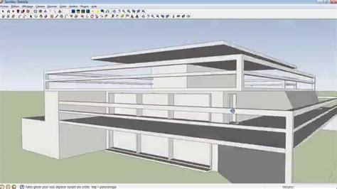 google sketchup modeling tutorial google sketchup 8 tutorial modern house modeling hd