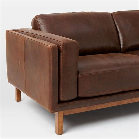 elm leather sofa elm dekalb aniline leather sofa