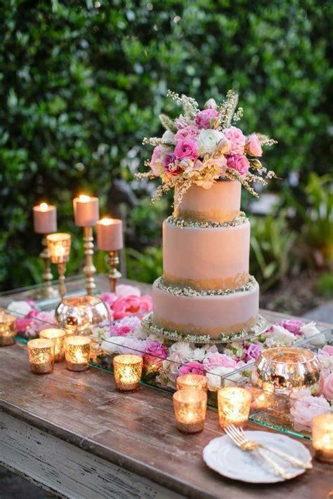 Romantic Watercolor Wedding Inspiration Shoot   Cake
