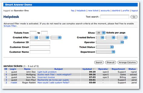 smart answer customer service software features and