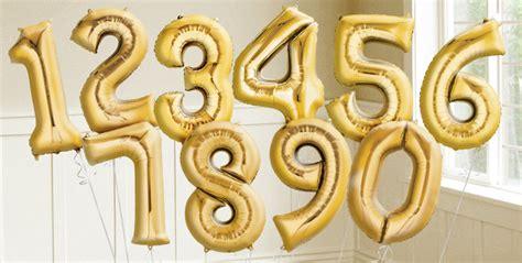 Balon Foil Hbd Gift Box Mini gold number balloons city