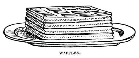 Pancakes Waffles Popovers Vintage Clip Art   Old Design Shop Blog