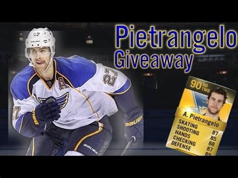 Nhl Stats Giveaways - nhl 15 hut alex pietrangelo giveaway 90 overall youtube