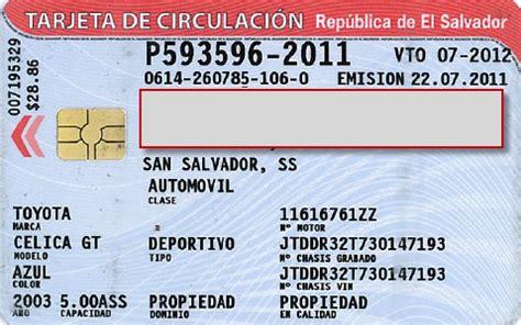 tarjeta de circulacion de vehiculos tradeportal unctad