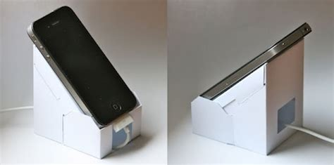 how to make a mod iphone and docking station out of 厚紙で作るiphone 5のdockスタンド ryoannablog