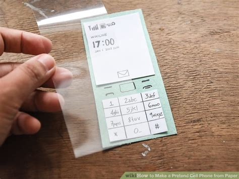 How To Make A Mobile Phone With Paper - 3 ways to make a pretend cell phone from paper wikihow