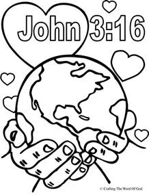 For God So Loved The World Coloring Page god so loved the world coloring page 171 crafting the word