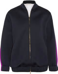 Original Moutley Twotone Bomber Jacket Blue stella mccartney two tone scuba bomber jacket where to buy how to wear